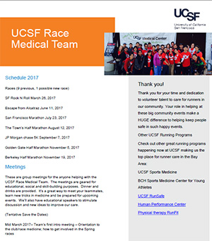 UCSF Race Medical Team